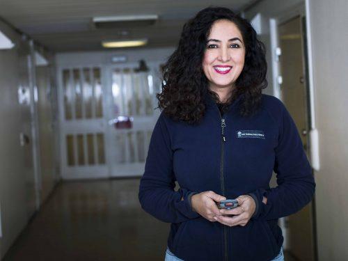 Laila Ibrahim, omvårdnadspersonal på rättspsykiatrin i Göteborg.