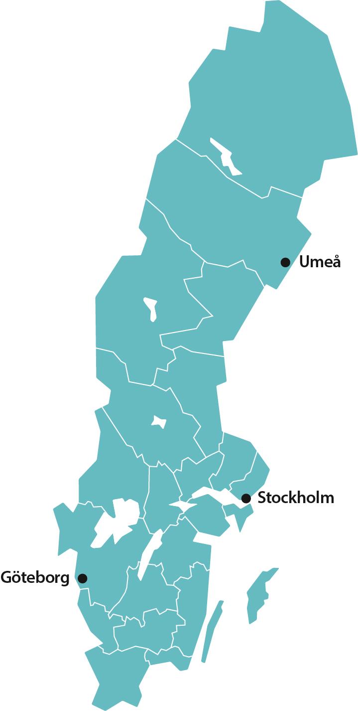 Karta över Sveriges län