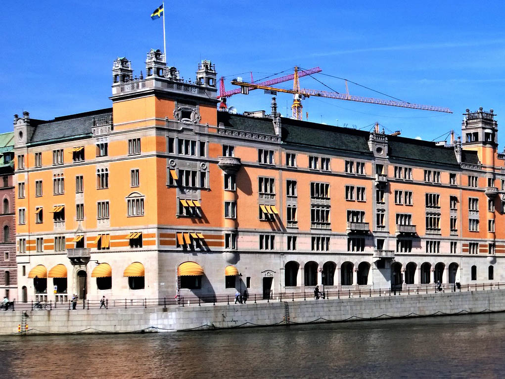 Exteriör på Rosenbad i Stockholm.