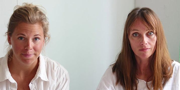 Bildr från inspelningen av podden med rättsläkarna Denise Guggenheimer och Brita Zilg